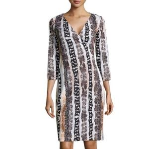 DVF Silk Wrap Snakeskin Dress